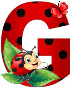 Letters For Kids, Letters And Numbers, Lady Bug, Crochet Collar Pattern, Diy Classroom Decorations, Ladybug Art, Alphabet Wallpaper, Clip Art Pictures, Monogram Alphabet