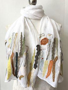 Sophie Digard ~ Vegetable Appliqué Embroidered Linen