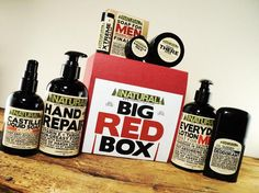 BIG Red Box Gift for Men Hygiene Box Lotion for Man by SamsNatural, $59.95