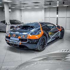 Bugatti Veyron Super Sport by Sticker City featuring orange EB logo