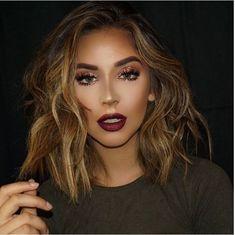 Dark Berry Lippen Make-up - Diy Make-up Fall Makeup, Lip Makeup, Beauty Makeup, Hair Beauty, Rock Makeup, Makeup Geek, Beauty Tips, Gorgeous Makeup, Pretty Makeup