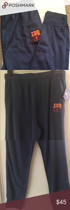Men's New FC Barcelona Soccer Blue XL Sweat Pants Men's New FC Barcelona Official Soccer Blue XL Jogging/Sweat Pants FC Barcelona Pants Sweatpants & Joggers