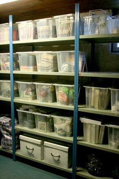 Neat and Tidy. We have this. Just have to get the uniform sizes for the containers...and get rid of stuff, too.