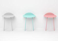 Kaki side tables by Kenyon Yeh