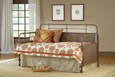 Hillsdale Furniture 1502DBLHTR Kensington Daybed, Suspension Deck And Roll Out Trundle Set