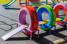 Cambia tu patio y recicla ideas con neumáticos. -Orientacion Andujar
