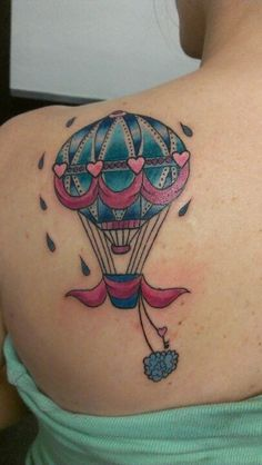 hot air balloon Tattoos | Hot air balloon tattoo. | tattoos