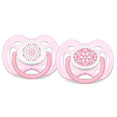 "Philips AVENT BPA Free 0-6 Months 2 Pack Contemporary Design Freeflow Pacifier - Pink - Avent - Babies ""R"" Us"