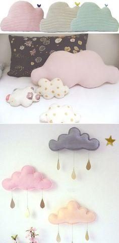 nuage coussin déco chambre enfant