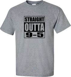 Funny Retirement Gift, Retired T-Shirt, Straight Outta 9-5, Retirement Party Gift, Retirement T-Shirt, Retirement Shirt, Retirement Gift is printed Straight Outta 9-5 for the retiree who gets to leave behind the office hours and job. This funny retirement T-Shirt will get the most laughs at the retirement party and will be enjoyed for years to come.