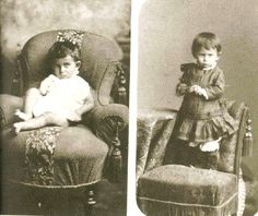 FRANZ KAFKA     AGED 2 or 3  ( Right  )  and One Year old  , 1884       Via FamilyTree