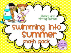 To be used at the end of the year or sent home with children to work on during the summer between 2nd and 3rd grade! It has a summer theme. I designed it to be easy to use in your classroom (little or no prep) or easy enough to understand that you could send some of all of it over the summer for your kiddos. For each section I included a page that tells what CCSS Math standards for 2nd grade are covered.