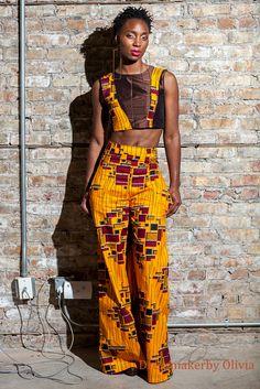 African Fabric, Ankara, African Shop. Ankara Bell bottom Pants, oh my, I love these