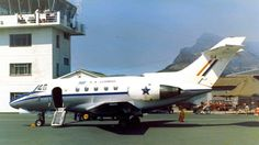 Hawker Siddeley Mercurius. Here we see number 04. Numbers 01 ,02 and 03 were lost in the crash on Devils Peak seen behind the tail.