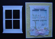 Lot of 5 White Window Die Cut Make Stampin Up Handmade Cards Scrapbook | eBay