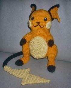 Crochet Raichu and free pattern...lots of other pokeman as well.