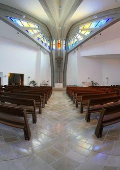 Progetto Arte Poli - Opere e arredo sacro Modern Church, Church Design, Church Architecture, Sacred Art, Opera, Mirror, Stencil, Backgrounds, Design Ideas