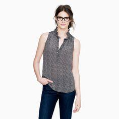 J. CREW 'Nicky' Herringbone Sleeveless Blouse Top Shirt Sz 00 | $29 on eBay