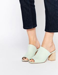 Minty fresh mules are everything for spring