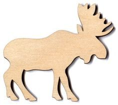 Unfinished Wooden Moose Wooden Moose  moose wood by BareBearMOOSE