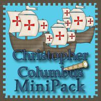 Free Christopher Columbus Mini Pack contains over 30 pages, for ages 2 to 7 by 3Dinosaurs.com