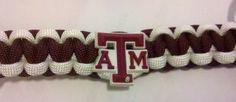 Texas A Aggies Logo Paracord Bracelet by PhaedrusParacord $10.00