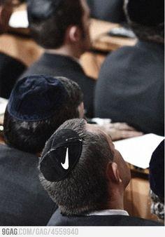 Nike, Just Jew It. #Pinterbest #WTF