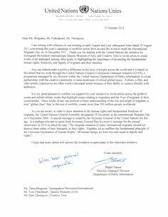 united nations official letter of support for dec artistofficial letter business letter sample - Cover Letter United Nations