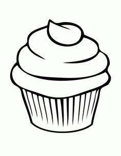 Pretty Cupcake Coloring Page