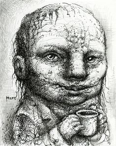 Charity by Chris Mars. Ink and Graphite on paper. Chris Mars @ Facebook.com