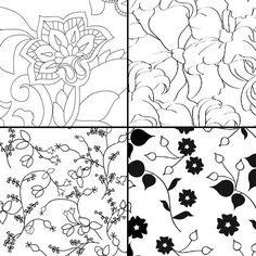 These minimalistic flower patterns can make gorgeous wedding invitations! They are all high resolution, so you can print them without looking fuzzy. Imagine all the paper projects you can use these patterns…if you're good at Illustrator or other design programs you could also color to your like (or your wedding color scheme). I couldn't choose …