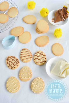 Easter Biscuits - One Handed Cooks Easter Biscuits Easter is a great time to get cooking in the kitchen with kids and we've now got a nice little list of Easter treats for you to choose from. Easter Cookie Recipes, Easter Cookies, Easter Treats, Easter Food, One Handed Cooks, Easter Biscuits, Shapes Biscuits, Cookies For Kids, Sweet Cookies