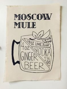 Moscow Mule Recipe Canvas Print by HipHues on Etsy                                                                                                                                                      More