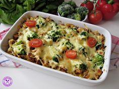 VioletoweKucharzenie: Zapiekanka ryżowa z kurczakiem, szynką i brokułem