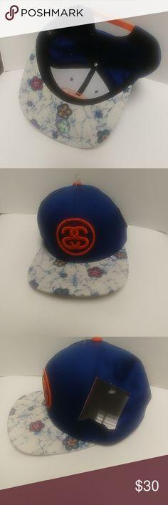 78c0a2c5a46 NWT Stussy Unisex Snapback Floral Brim Stussy Snapback Floral Design Brim Hat  Stussy Accessories Hats