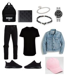 """""""Untitled #19"""" by tomasi-nasau on Polyvore featuring Neuw, adidas, River Island, J.Crew, Rolex, Givenchy, Gucci, A.P.C., Topman and men's fashion"""