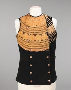 Silk and wool vest, late 19th century