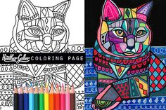 cat coloring, coloring book, adult coloring book, coloring pages, adult coloring pages, coloring book for adults
