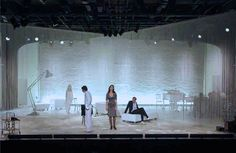 Romeo+/-Julia Opera by Daniela Kerck, via Behance, string curtain