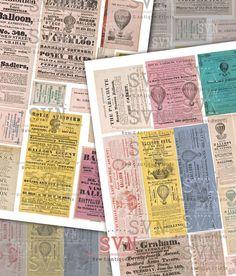 Avisos y Tickets de Show de Globos de Aire por suvenireprints