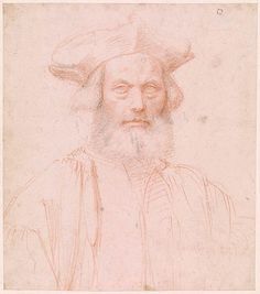 Attributed to Giovan Francesco Bembo | Portrait of Bearded Man | Drawings Online | The Morgan Library & Museum