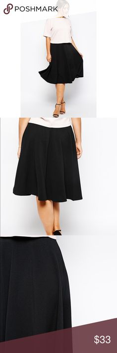 ☀SALE☀️Pink Clove Skater Midi Skirt NWT Skater midi skirt by pink clove. Pink clove is a brand sold by Asos. Made of polyester/ Spandex blend. Tags say UK size 18 which is 14 US. NO TRADES ASOS Curve Skirts Midi