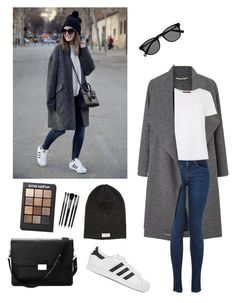 """Day Look 162 Street City Jeans Spring Weather Basic Outfit"" by fashion-by-katrine on Polyvore featuring Miss Selfridge, MaxMara, Nudie Jeans Co., Aspinal of London, adidas Originals, Sonia Kashuk and Illamasqua"
