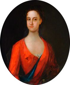 """Portrait of an Unknown Lady in a Red Dress"", ca. 1700; Fairfax House TC1991/285"