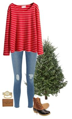 """""""going to a christmas tree farm"""" by sassy-and-southern ❤ liked on Polyvore featuring Frame Denim, L.L.Bean, Tory Burch, Chloé, Michael Kors and sassysouthernwinter"""
