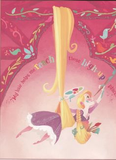 This is from the little Golden Book. Beautiful illustrations of Rapunzel by Claire Keane