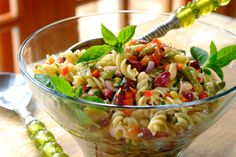 THREE BEAN PASTA SALAD -Perfect to prepare ahead of time and leave in the fridge for the flavours to develop!