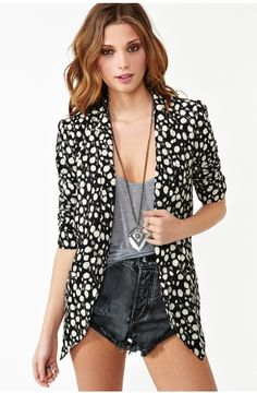 We think this Spot It Blazer by Nasty Gal is a must have..go check it out on http://www.nastygal.com/collections_our-most-loved-stuff/spot-it-blazer