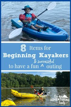 Kayaking Outfit Discover The Gear We Recommend for Beginning Kayakers - Our Adventuring Family Weve kayaked as a family a few times now and heres the gear we recommend for beginning kayakers who dont want to spend a lot but still want to have fun! Kayaking Outfit, Kayaking Tips, Kayak Camping, Kayak Fishing, Fishing Cart, Fishing Box, Camping List, Fishing Gifts, Carp Fishing