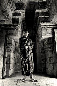 Thailand Monk in B/W